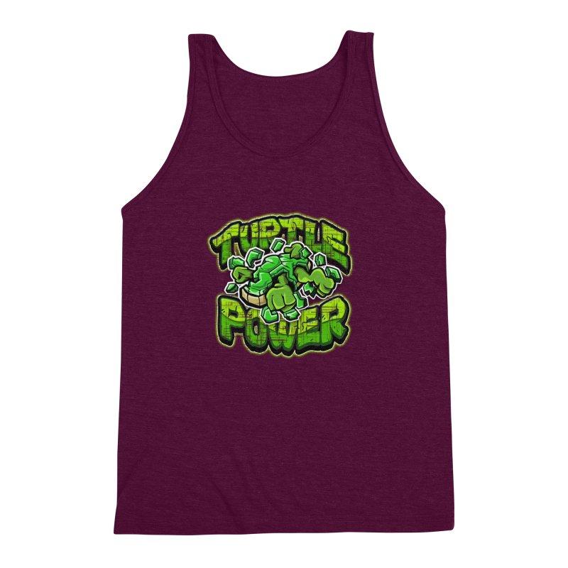 Turtle Power! Men's Triblend Tank by FunkyTurtle Artist Shop