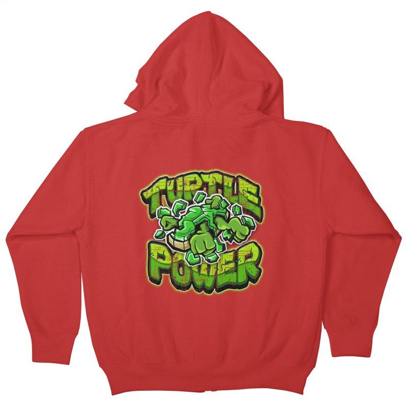 Turtle Power! Kids Zip-Up Hoody by FunkyTurtle Artist Shop