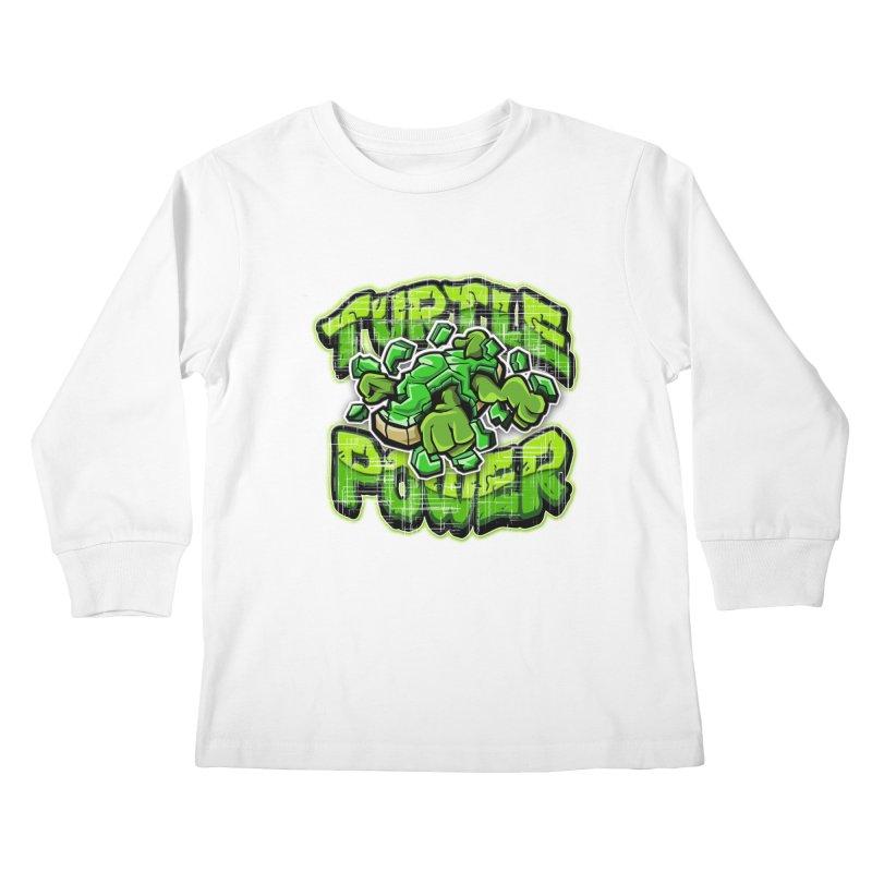 Turtle Power! Kids Longsleeve T-Shirt by FunkyTurtle Artist Shop