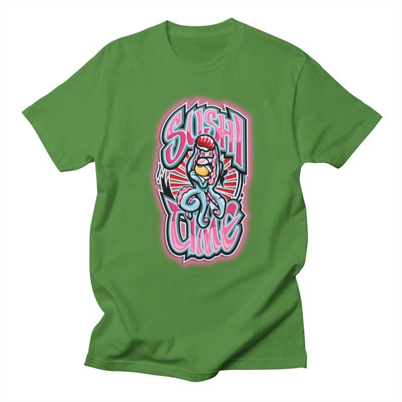Sushi Time Men's T-shirt by FunkyTurtle Artist Shop