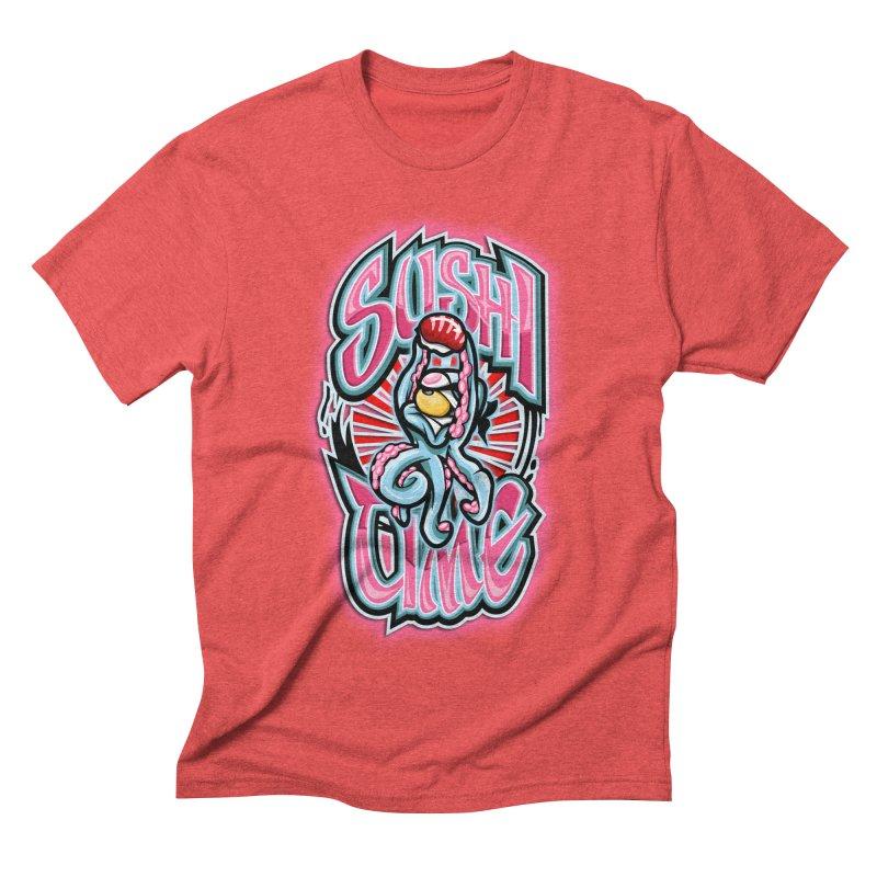 Sushi Time Men's Triblend T-shirt by FunkyTurtle Artist Shop