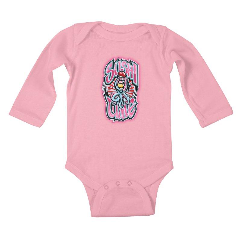 Sushi Time Kids Baby Longsleeve Bodysuit by FunkyTurtle Artist Shop