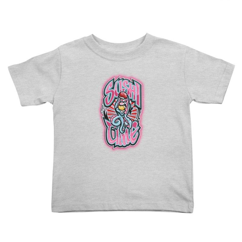 Sushi Time Kids Toddler T-Shirt by FunkyTurtle Artist Shop