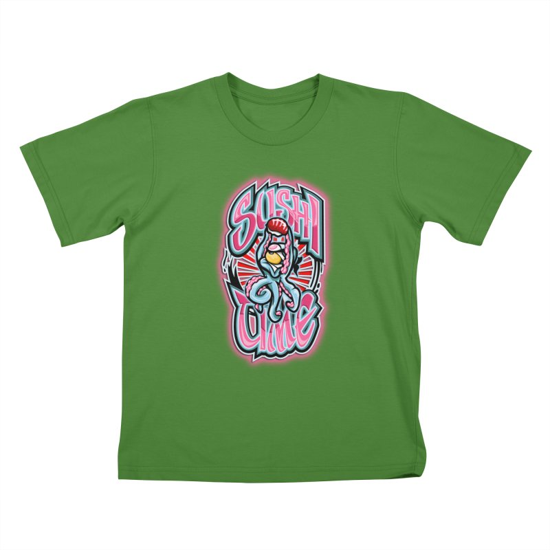Sushi Time Kids T-Shirt by FunkyTurtle Artist Shop