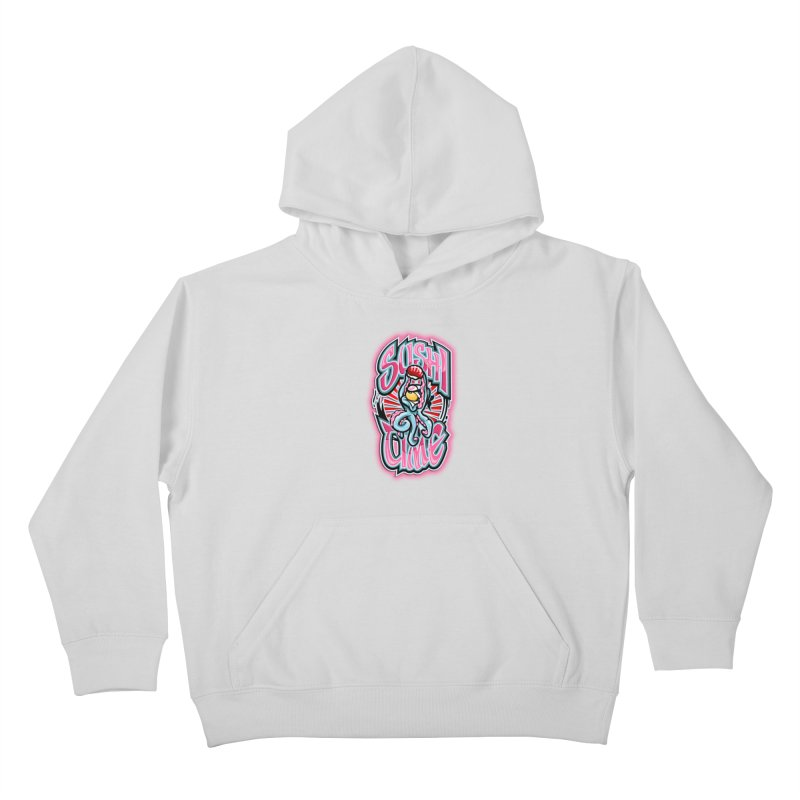 Sushi Time Kids Pullover Hoody by FunkyTurtle Artist Shop