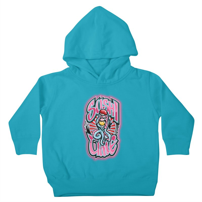 Sushi Time Kids Toddler Pullover Hoody by FunkyTurtle Artist Shop