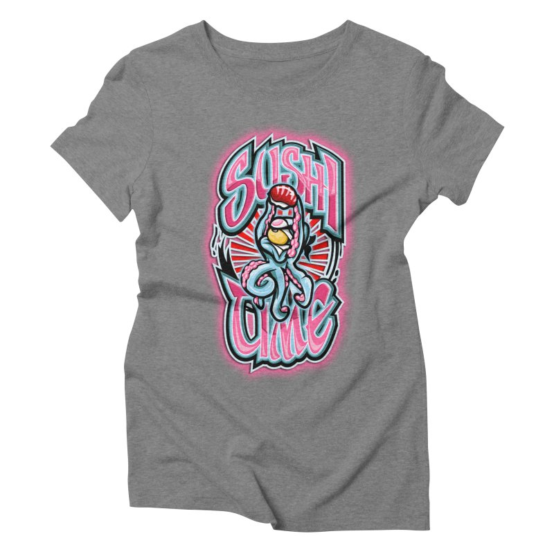 Sushi Time Women's Triblend T-shirt by FunkyTurtle Artist Shop