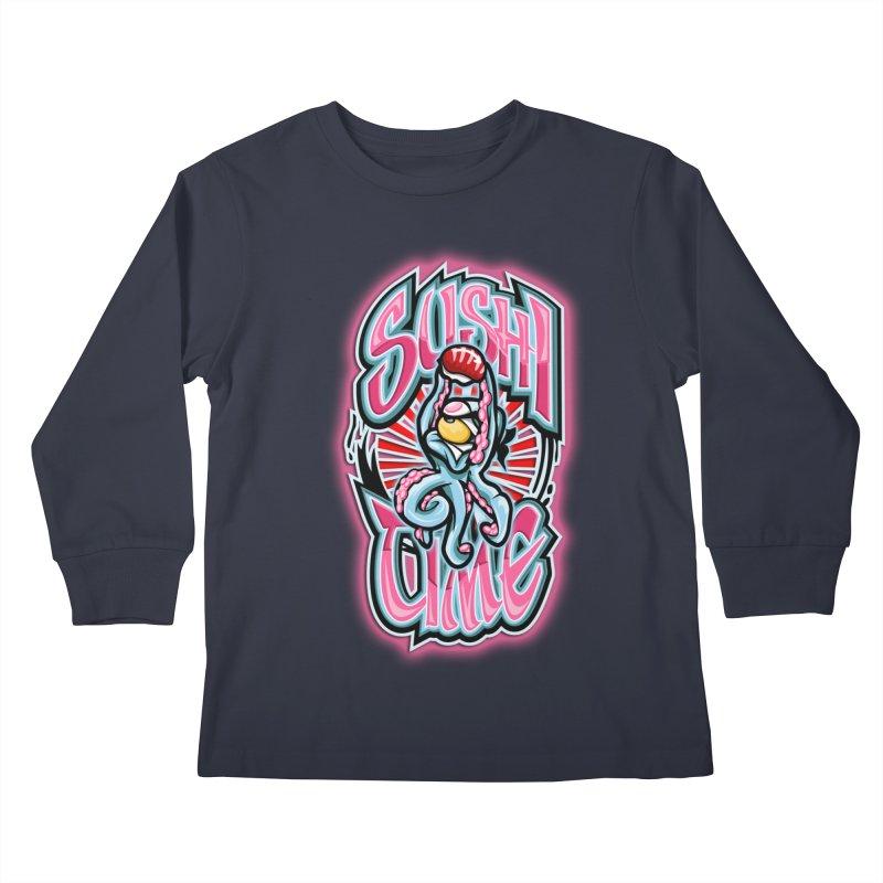 Sushi Time Kids Longsleeve T-Shirt by FunkyTurtle Artist Shop