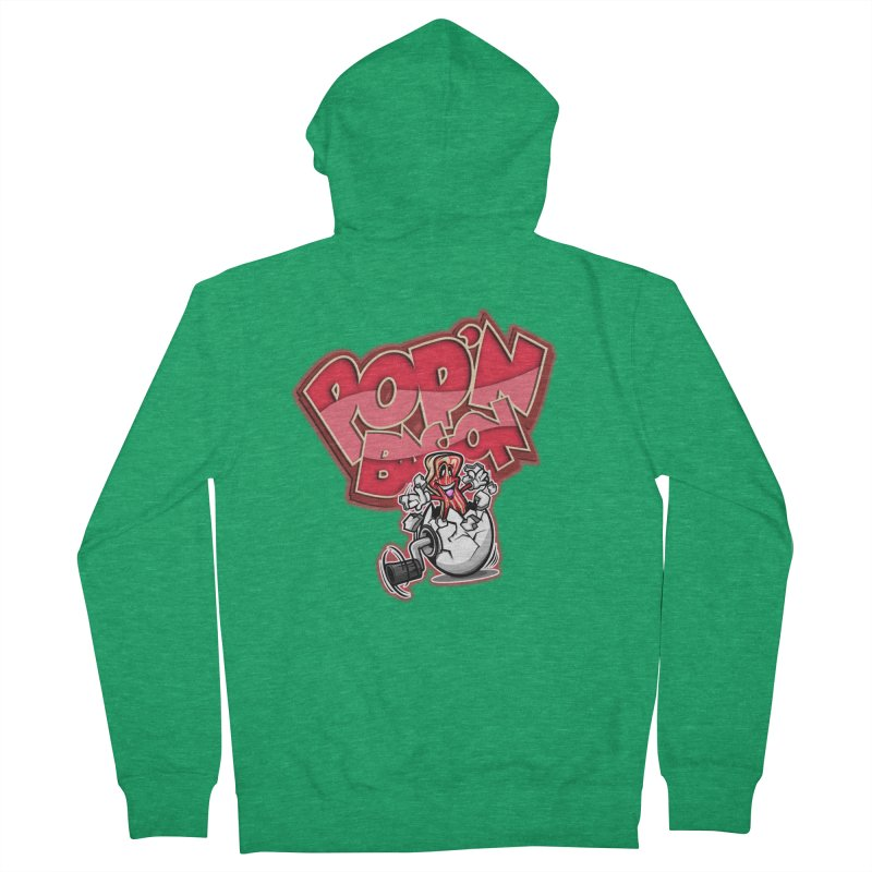 Pop'n Bacon Men's Zip-Up Hoody by FunkyTurtle Artist Shop