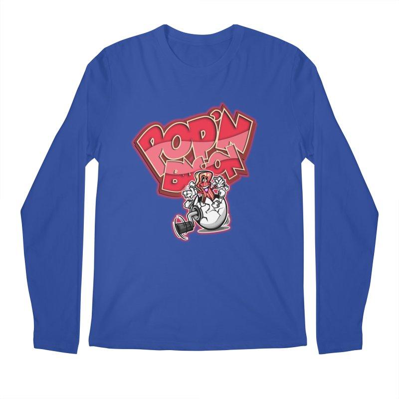 Pop'n Bacon Men's Longsleeve T-Shirt by FunkyTurtle Artist Shop