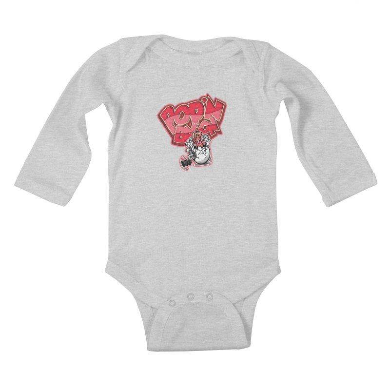 Pop'n Bacon Kids Baby Longsleeve Bodysuit by FunkyTurtle Artist Shop