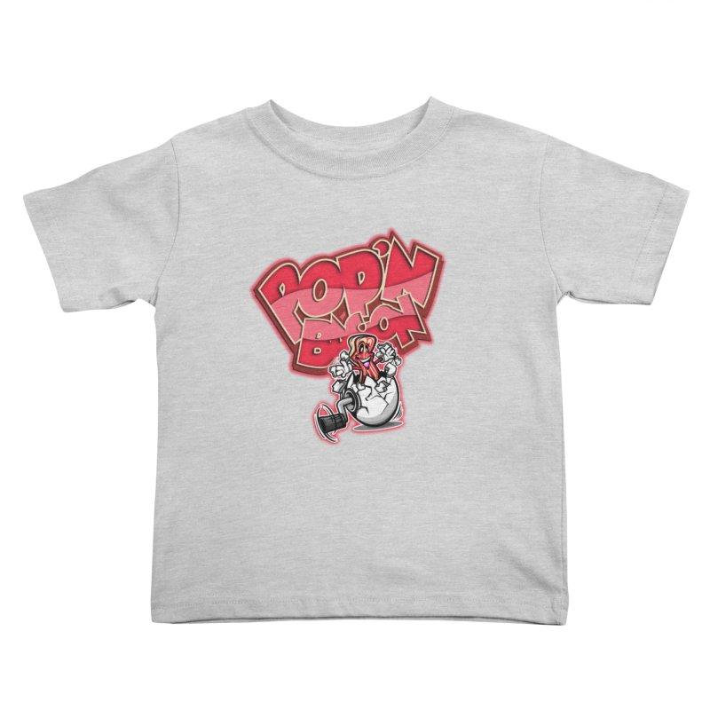 Pop'n Bacon Kids Toddler T-Shirt by FunkyTurtle Artist Shop