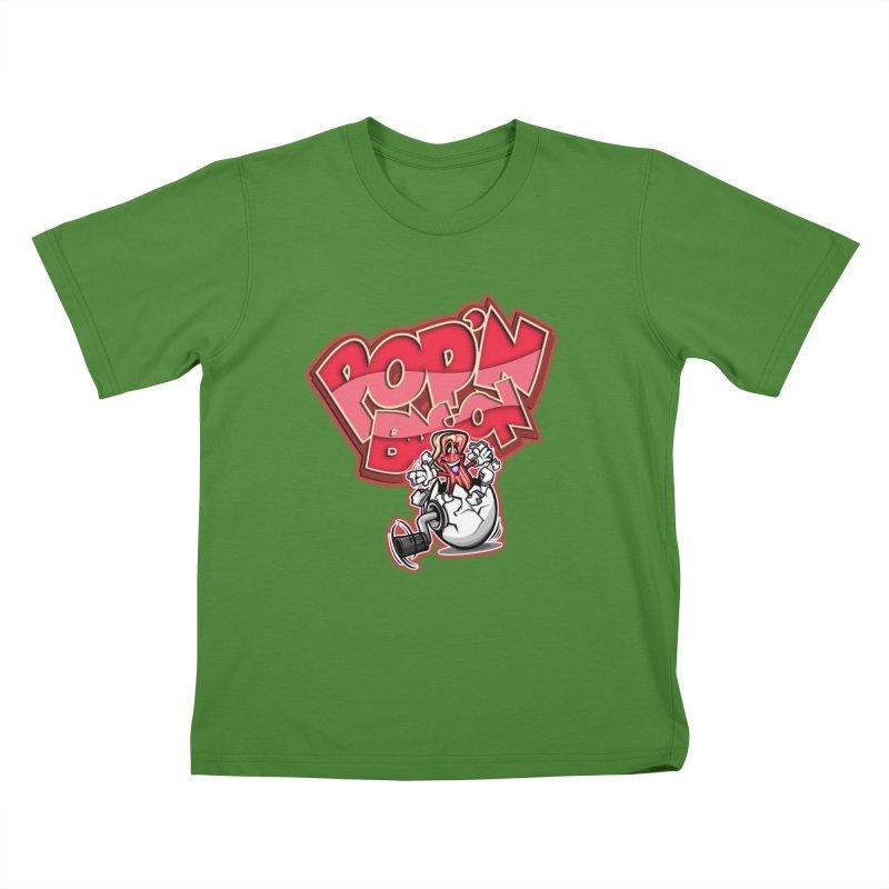 Pop'n Bacon Kids T-shirt by FunkyTurtle Artist Shop