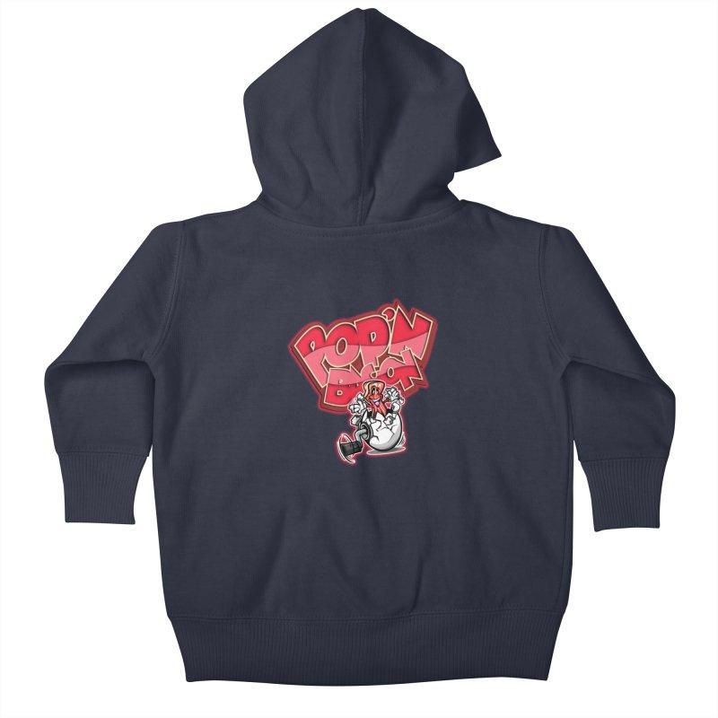 Pop'n Bacon Kids Baby Zip-Up Hoody by FunkyTurtle Artist Shop