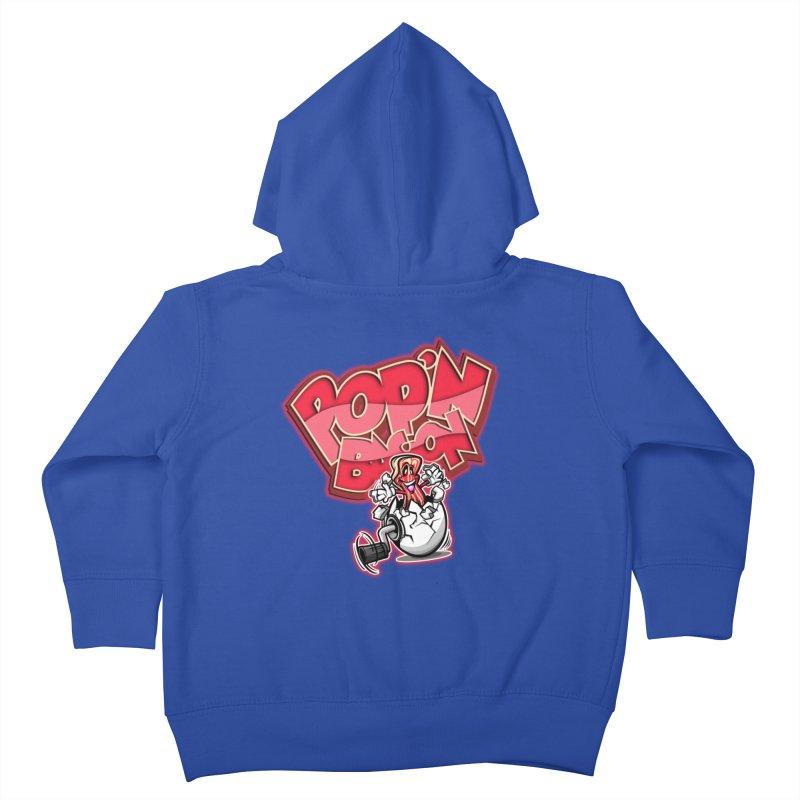 Pop'n Bacon Kids Toddler Zip-Up Hoody by FunkyTurtle Artist Shop