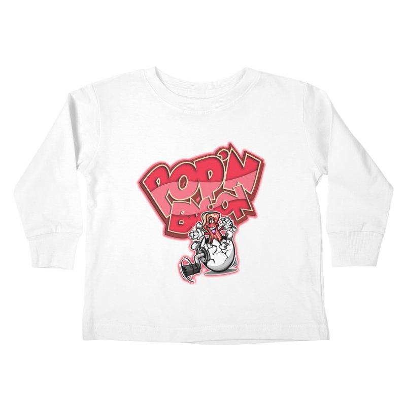 Pop'n Bacon Kids Toddler Longsleeve T-Shirt by FunkyTurtle Artist Shop