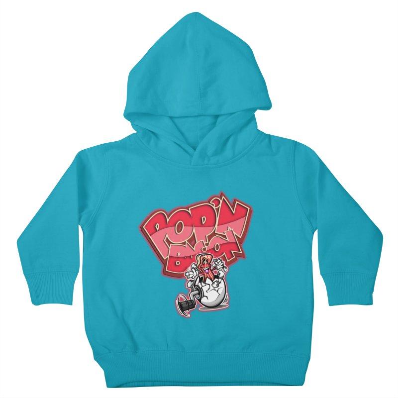 Pop'n Bacon Kids Toddler Pullover Hoody by FunkyTurtle Artist Shop