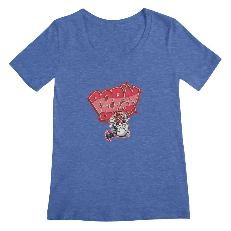 Pop'n Bacon Women's Scoopneck by FunkyTurtle Artist Shop