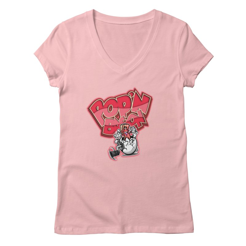 Pop'n Bacon Women's V-Neck by FunkyTurtle Artist Shop