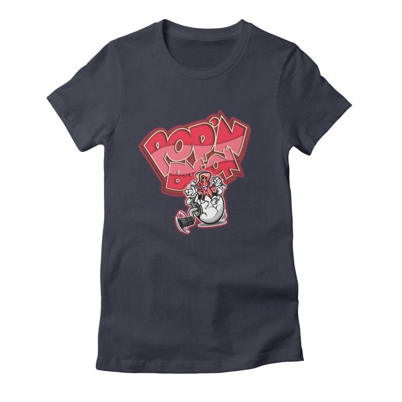 Pop'n Bacon Women's Fitted T-Shirt by FunkyTurtle Artist Shop