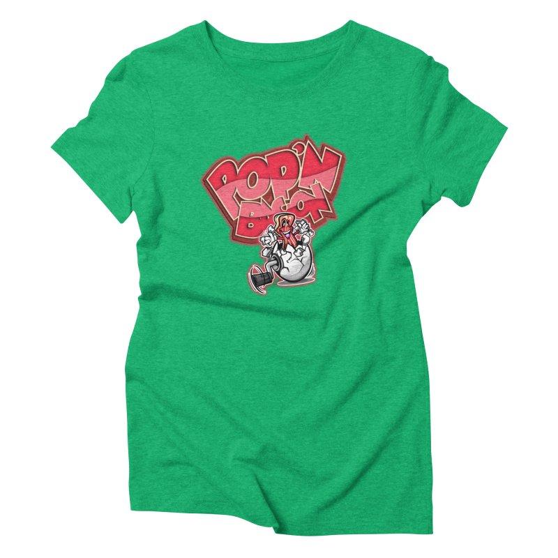 Pop'n Bacon Women's Triblend T-shirt by FunkyTurtle Artist Shop