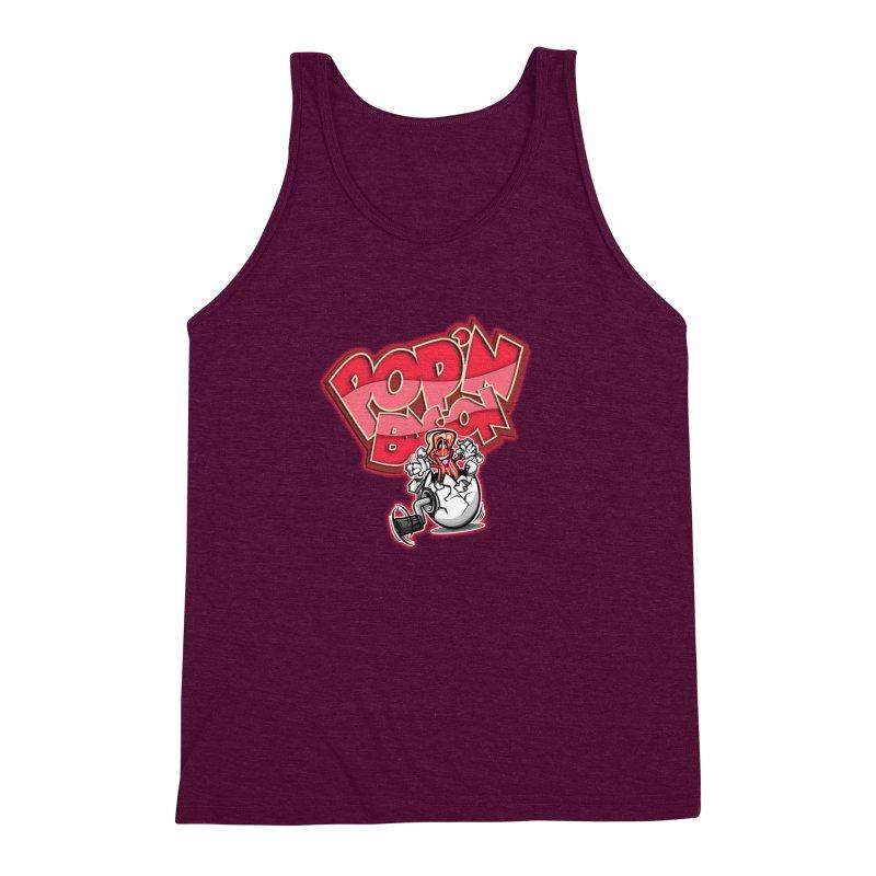 Pop'n Bacon Men's Triblend Tank by FunkyTurtle Artist Shop