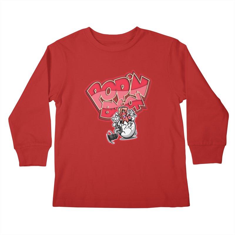 Pop'n Bacon Kids Longsleeve T-Shirt by FunkyTurtle Artist Shop