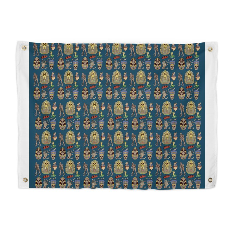 Mummy Death Pattern Home Tapestry by funnyfuse's Artist Shop
