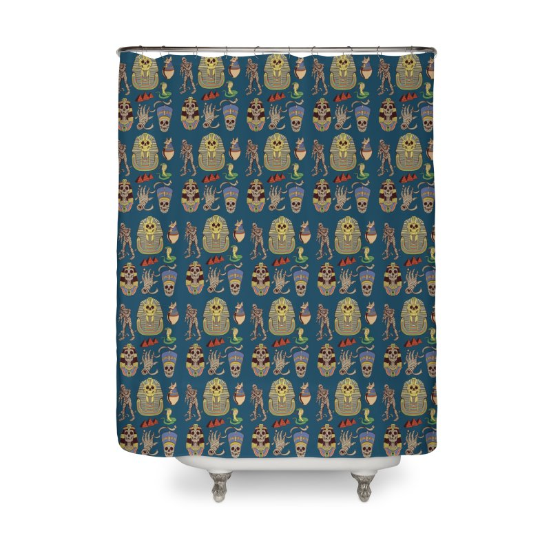 Mummy Death Pattern Home Shower Curtain by funnyfuse's Artist Shop