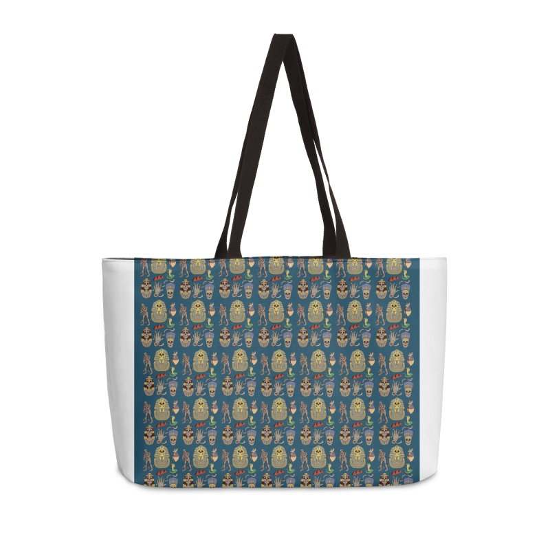 Mummy Death Pattern Accessories Weekender Bag Bag by funnyfuse's Artist Shop