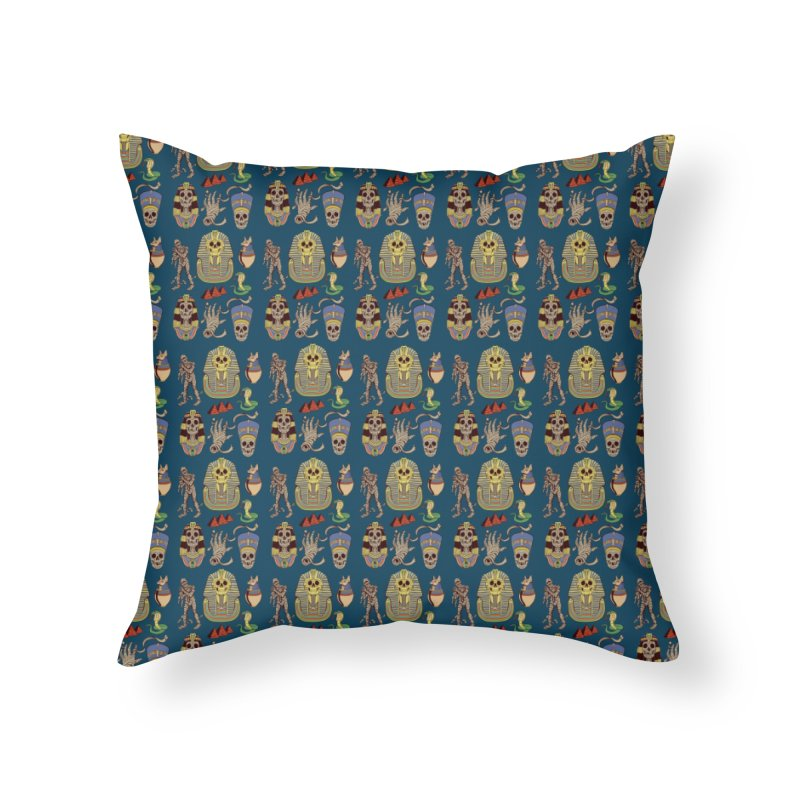 Mummy Death Pattern Home Throw Pillow by funnyfuse's Artist Shop