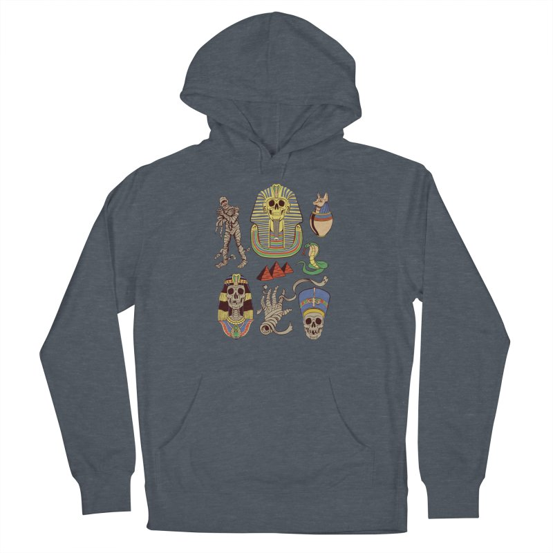 Mummy Death Pattern Men's French Terry Pullover Hoody by funnyfuse's Artist Shop