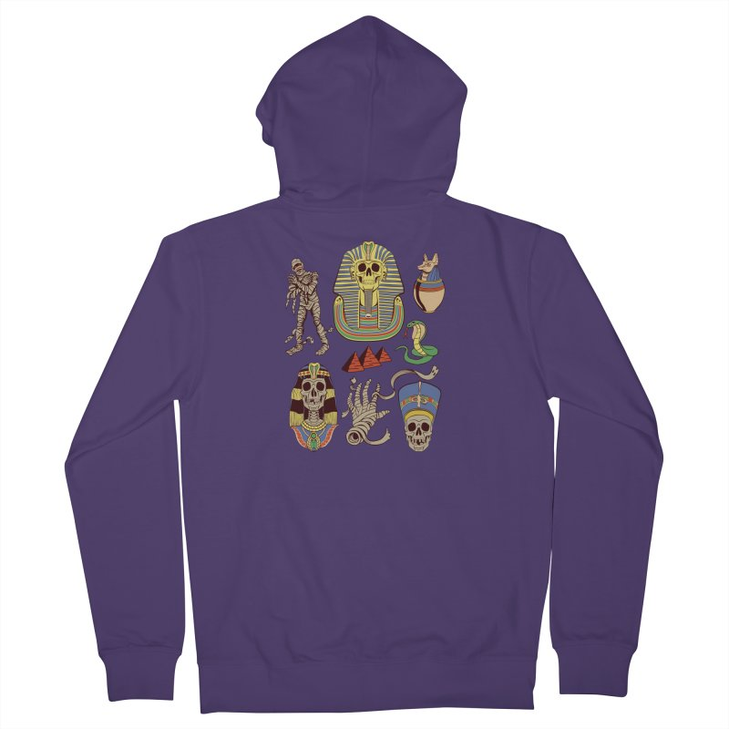 Mummy Death Pattern Women's Zip-Up Hoody by funnyfuse's Artist Shop