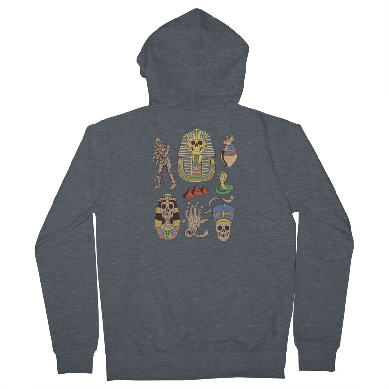 Mummy Death Pattern Men's French Terry Zip-Up Hoody by funnyfuse's Artist Shop