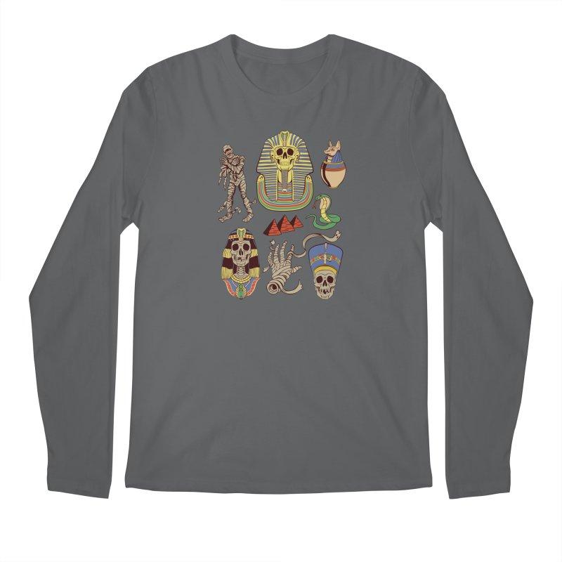 Mummy Death Pattern Men's Regular Longsleeve T-Shirt by funnyfuse's Artist Shop