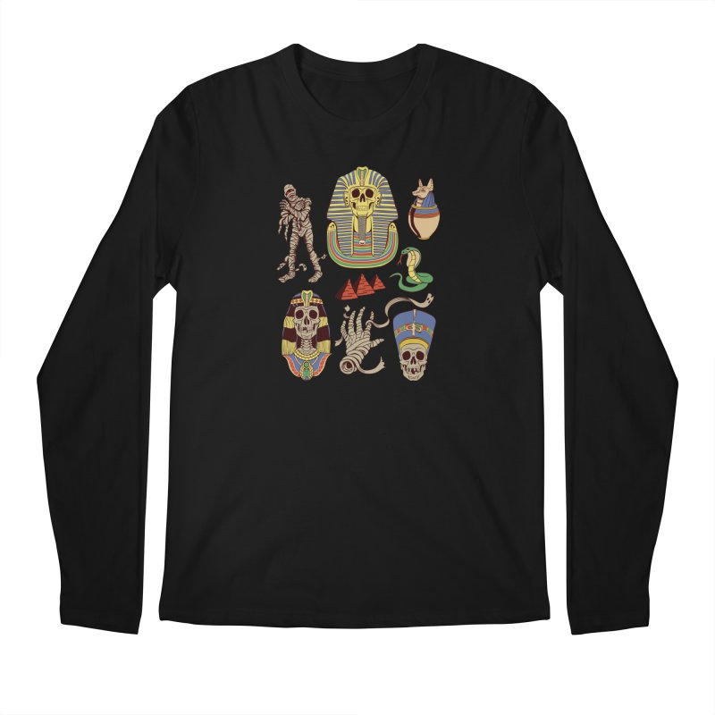 Mummy Death Pattern Men's Longsleeve T-Shirt by funnyfuse's Artist Shop
