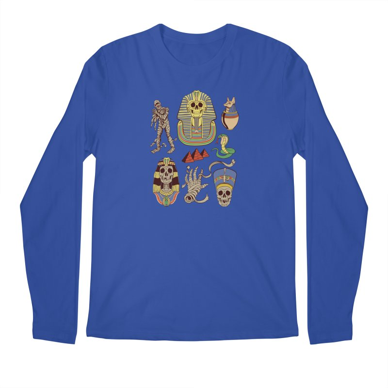 Mummy Death Pattern Men's Regular Longsleeve T-Shirt by funnyfuse's Artist Shop