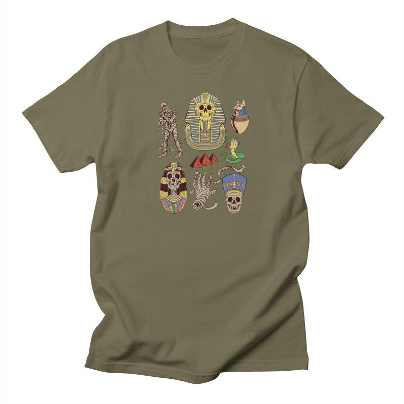 Mummy Death Pattern Men's Regular T-Shirt by funnyfuse's Artist Shop