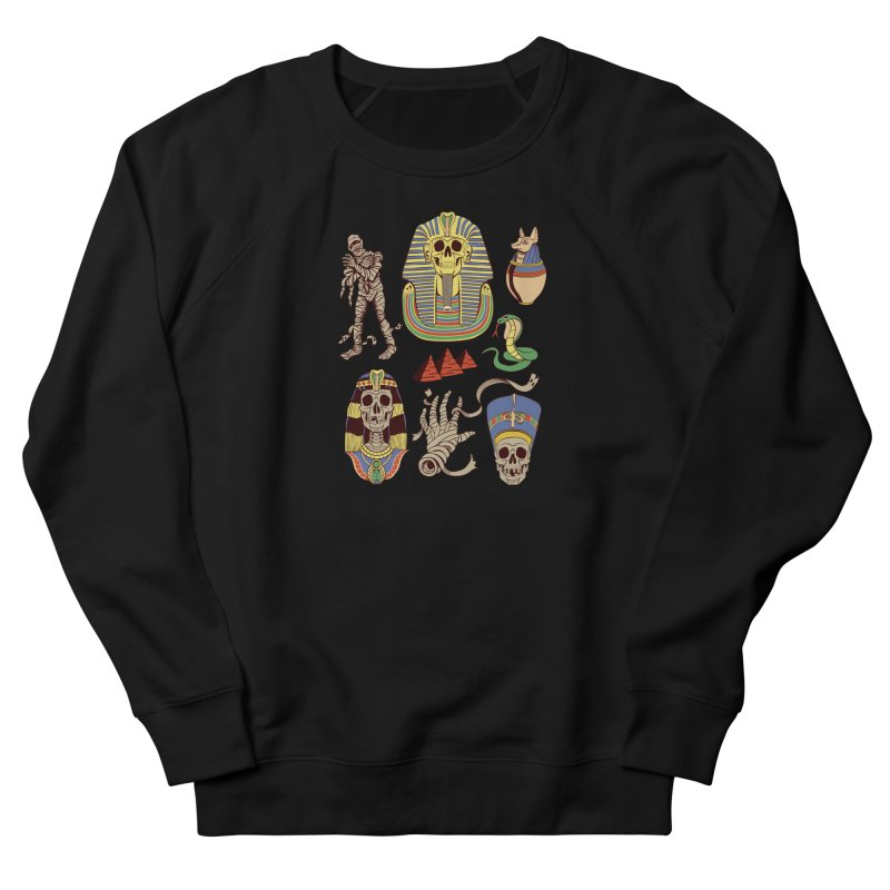 Mummy Death Pattern Women's French Terry Sweatshirt by funnyfuse's Artist Shop