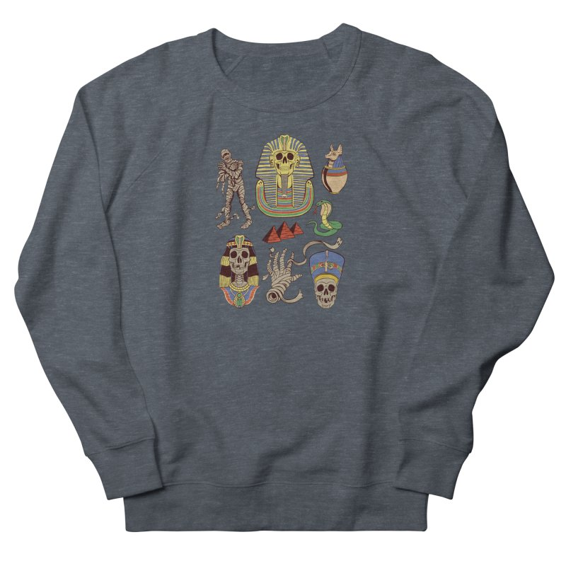 Mummy Death Pattern Men's French Terry Sweatshirt by funnyfuse's Artist Shop