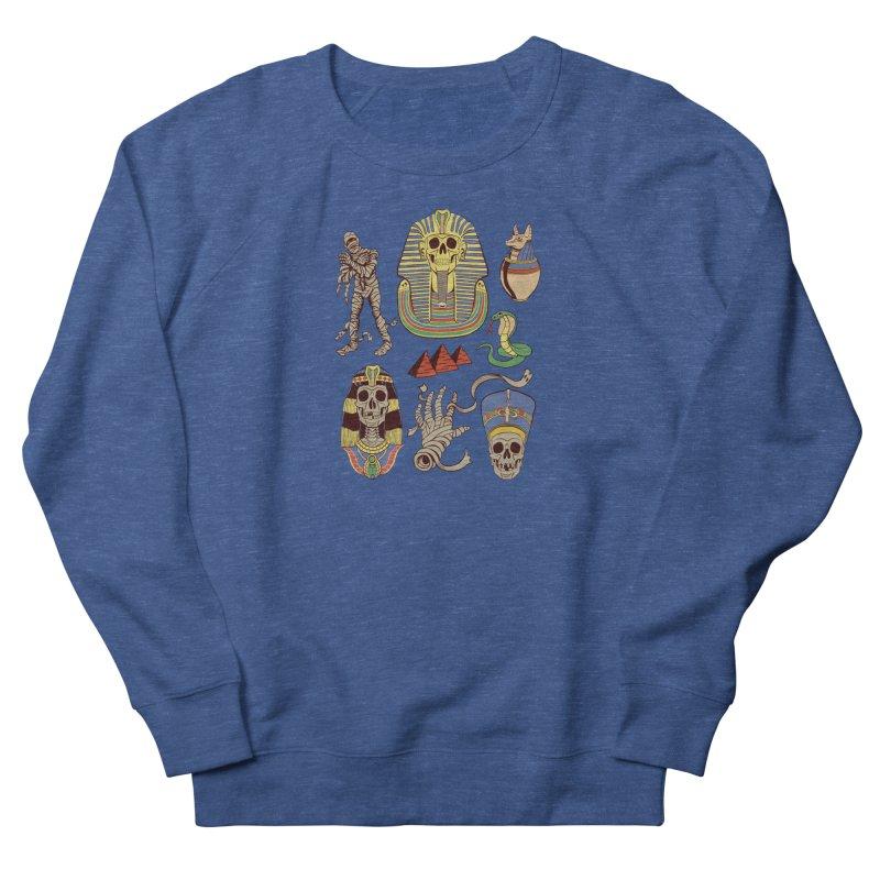 Mummy Death Pattern Men's French Terry Sweatshirt by funnyfuse's Artist Shop