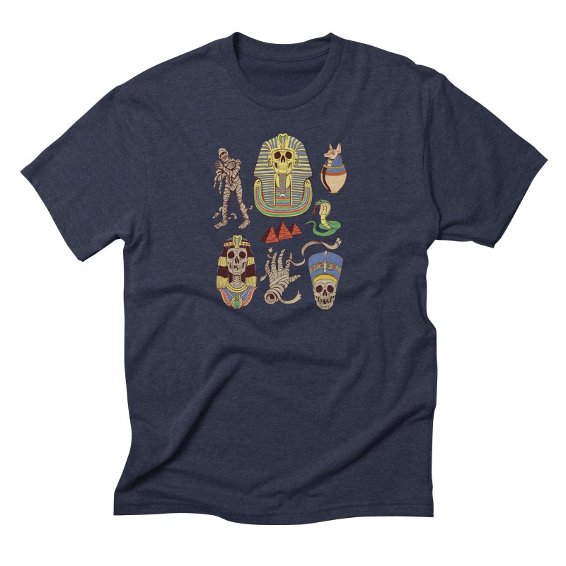 Mummy Death Pattern Men's Triblend T-shirt by funnyfuse's Artist Shop