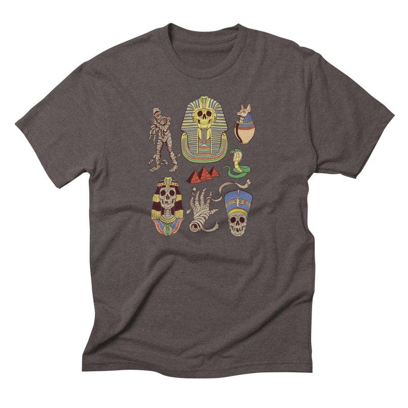 Mummy Death Pattern Men's Triblend T-shirt by funnyfuse's Artist Shop