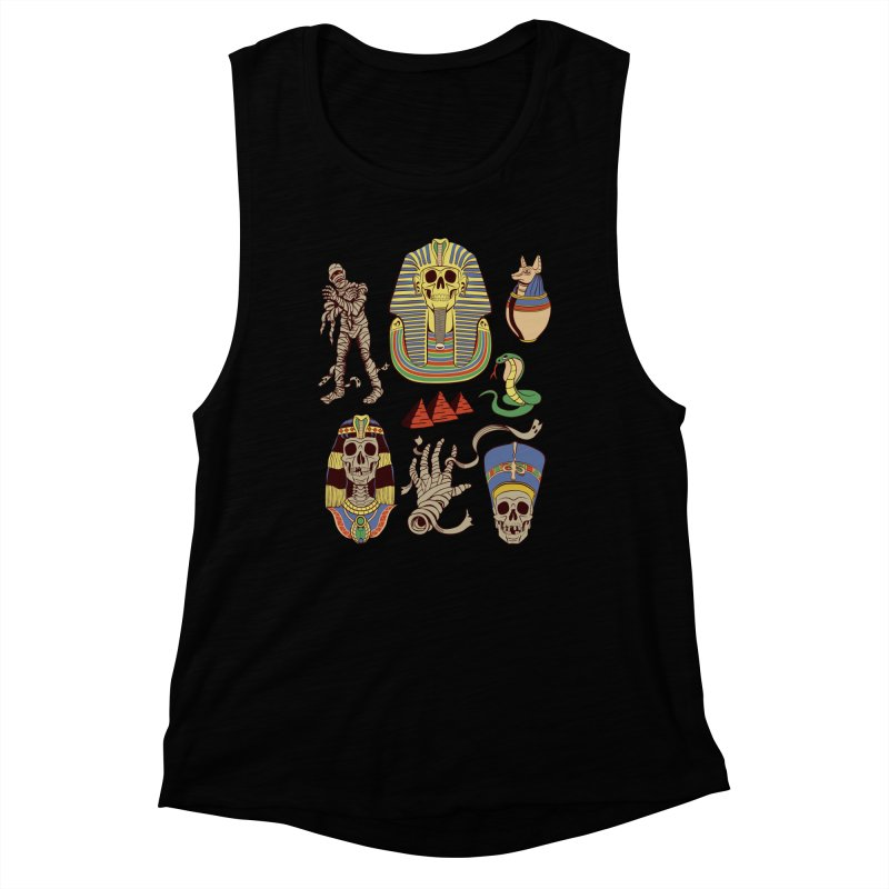Mummy Death Pattern Women's Muscle Tank by funnyfuse's Artist Shop