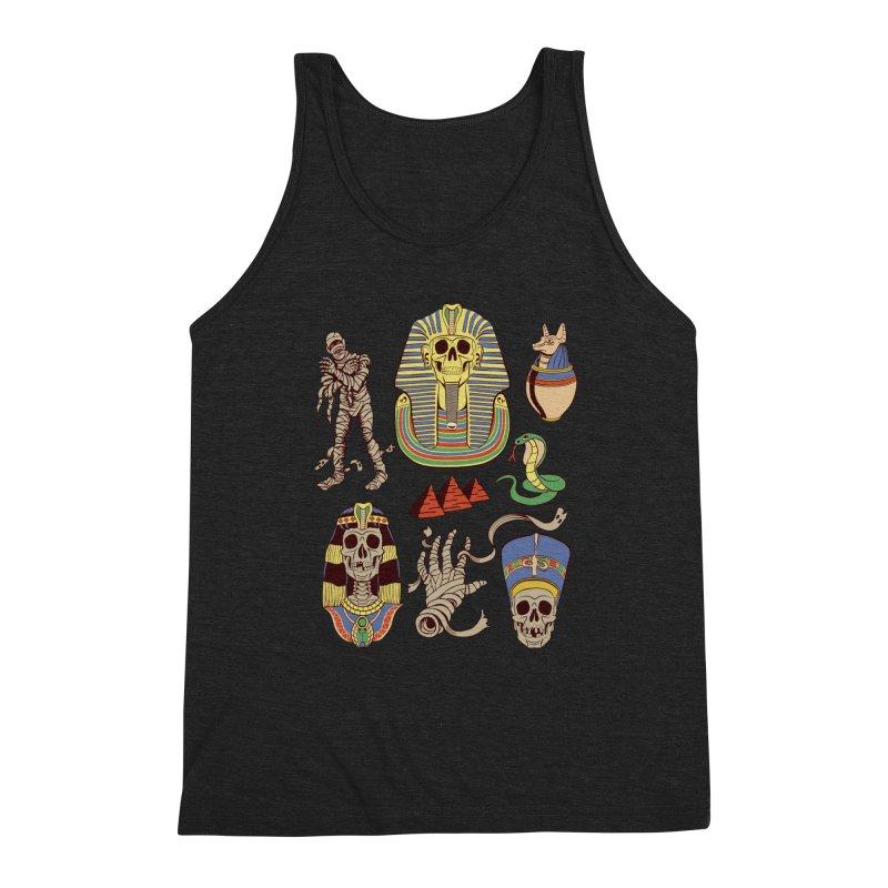 Mummy Death Pattern Men's Triblend Tank by funnyfuse's Artist Shop