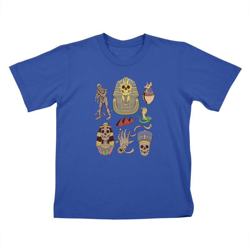 Mummy Death Pattern Kids T-Shirt by funnyfuse's Artist Shop