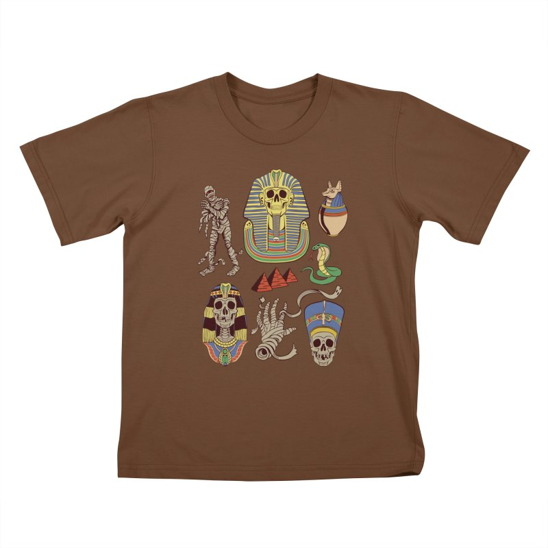 Mummy Death Pattern Kids T-Shirt by funnyfuse's Artist Shop