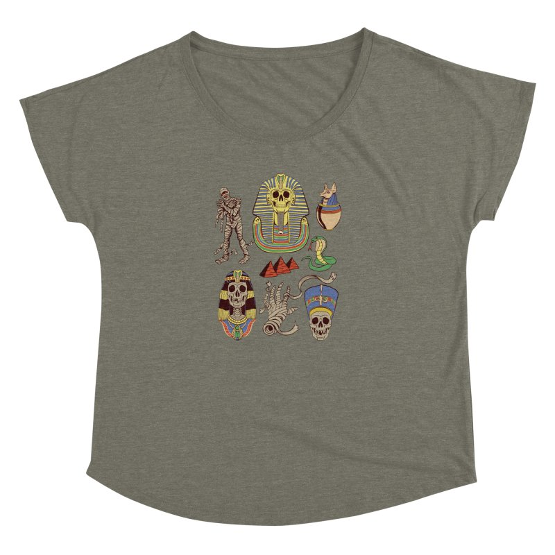 Mummy Death Pattern Women's Dolman Scoop Neck by funnyfuse's Artist Shop