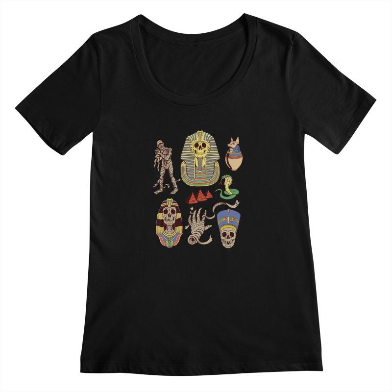 Mummy Death Pattern Women's Scoopneck by funnyfuse's Artist Shop