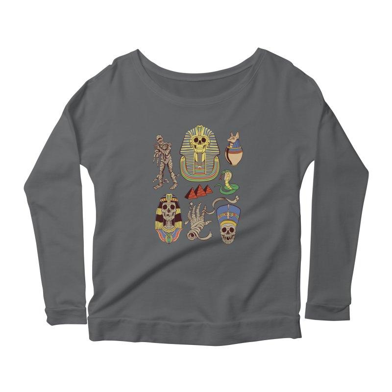 Mummy Death Pattern Women's Longsleeve T-Shirt by funnyfuse's Artist Shop